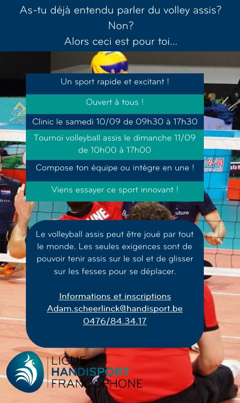 Volley assis 10 et 11 septembre 2016