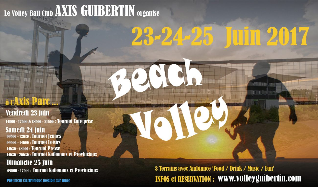 Le VC Axis Guibertin organise son 1er beach Volley-ball